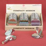 Chevron Design Mirror CompactsChevron Design Mirror Compacts