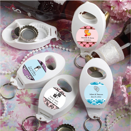 Personalised Expressions Collection Bottle Opener Key Chain Favors