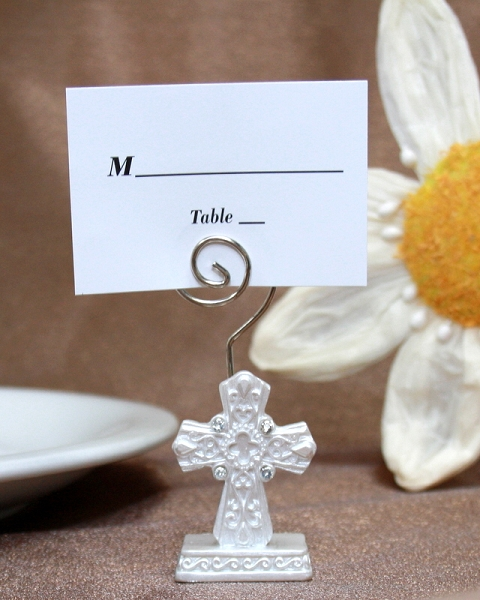 Religious Cross Place Card Holder