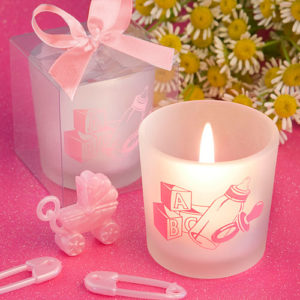 Favor Saver Collection Baby Girl Themed Candle FavorsFavor Saver Collection Baby Girl Themed Candle Favors