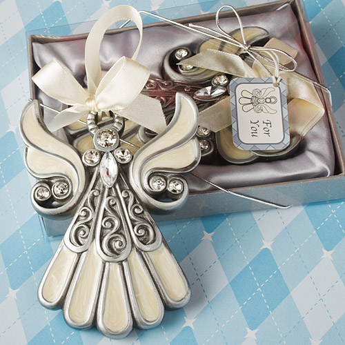 Shimmering Angel Ornaments