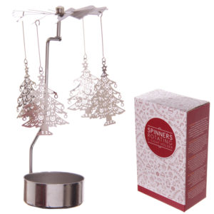 Christmas Tree Design Metal Tealight Spinner