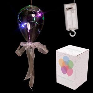 Clear LED Balloon Hanging Decoration - Medium