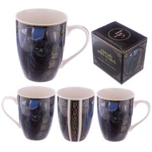 Collectable New Bone China Mug - Brush with Magic Cat Design