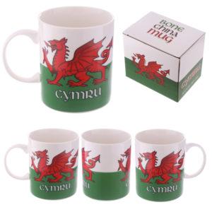 Collectable New Bone China Mug - Wales Welsh Dragon