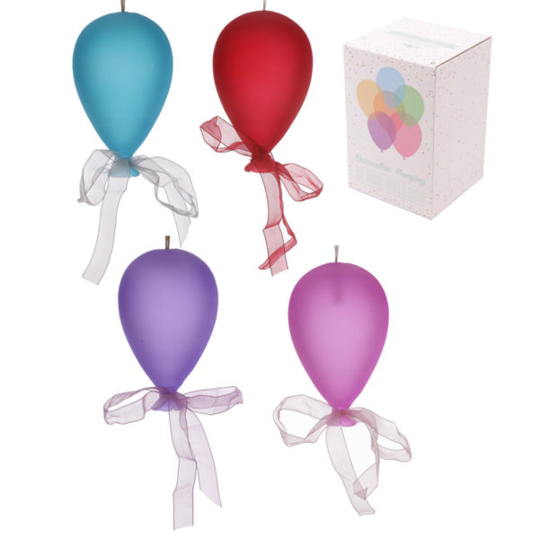 Coloured Balloon Hanging Decoration – Medium Matt
