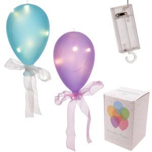 Coloured LED Balloon Hanging Decoration - Large Matt