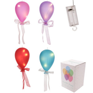 Coloured LED Balloon Hanging Decoration - Medium Matt