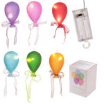 Coloured LED Balloon Hanging Decoration - Small Matt