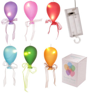 Coloured LED Balloon Hanging Decoration - Small Matt