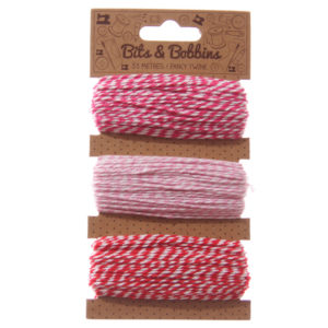 Creative Craft Pack - 33 Metres Two Tone Twine Pack of 3