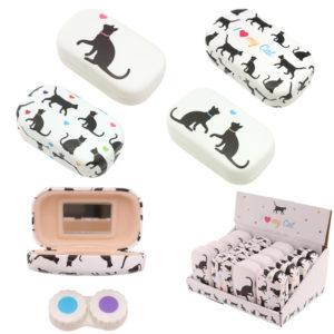 Cute Cat Design Handy Contact Lenses Case