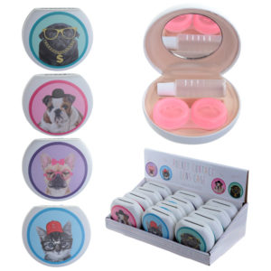 Cute Cats and Dogs Contact Lenses Case
