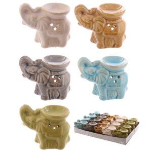 Cute Ceramic Crackle Glazed Elephant Owl Design Oil Burner