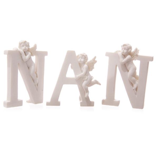 Cute Cherub NAN Letters Ornament
