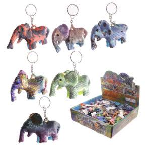Cute Collectable Elephant Design Sand Animal Keyring