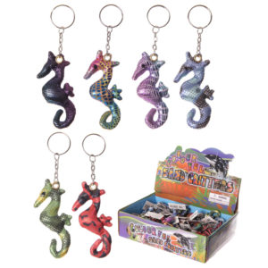 Cute Collectable Seahorse Design Sand Animal Keyring