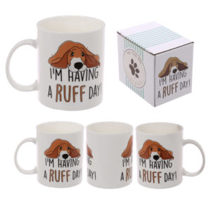 Cute Dog Slogan New Bone China Mug