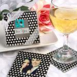 Photo Coaster Sets With Polka Dots!Photo Coaster Sets With Polka Dots!