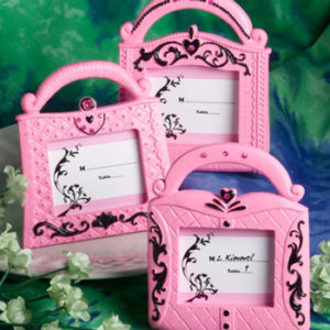 Pretty in Pink Collection Handbag Design Place Card FramesPretty in Pink Collection Handbag Design Place Card Frames