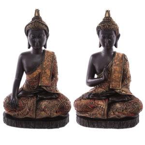 Decorative Antique Red Large Sitting Thai Buddha