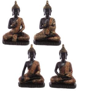 Decorative Antique Red Medium Sitting Thai Buddha