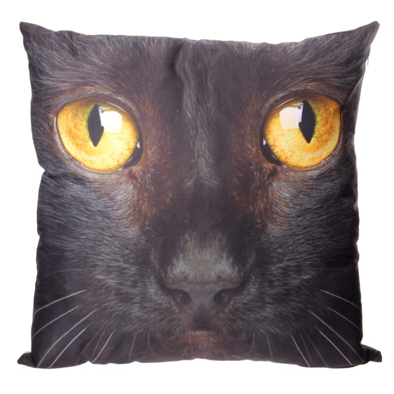 Decorative Black Cat Cushion