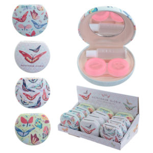 Decorative Butterfly Contact Lenses Case