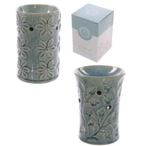 Decorative Ceramic Leaf and Flower Design Oil Burner