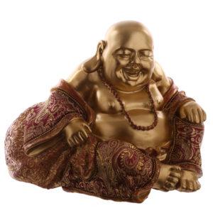 Decorative Chinese Buddha Figurine - Hand on Knee