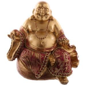 Decorative Chinese Buddha Figurine - With Money Sack