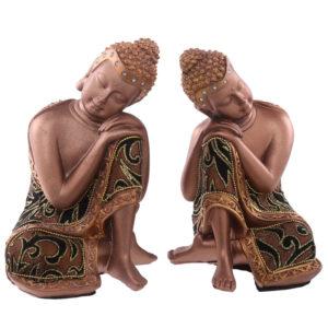 Decorative Fabric Effect Thai Buddha Head on Hands