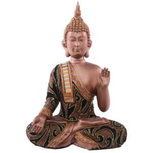 Decorative Fabric Effect Thai Buddha Sitting Hand Up Medium