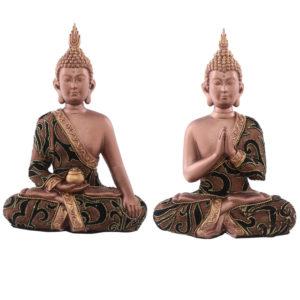 Decorative Fabric Effect Thai Buddha Sitting Medium