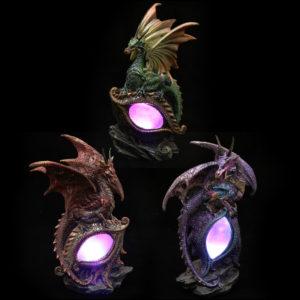 Decorative Fantasy LED Dragon Eye Figurine
