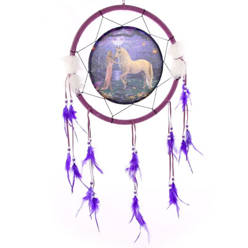 Decorative Fantasy Unicorn Garden 34cm Dreamcatcher