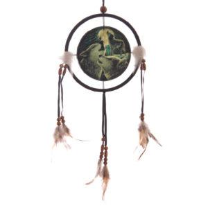 Decorative Fantasy Wolf Family Dreamcatcher Small