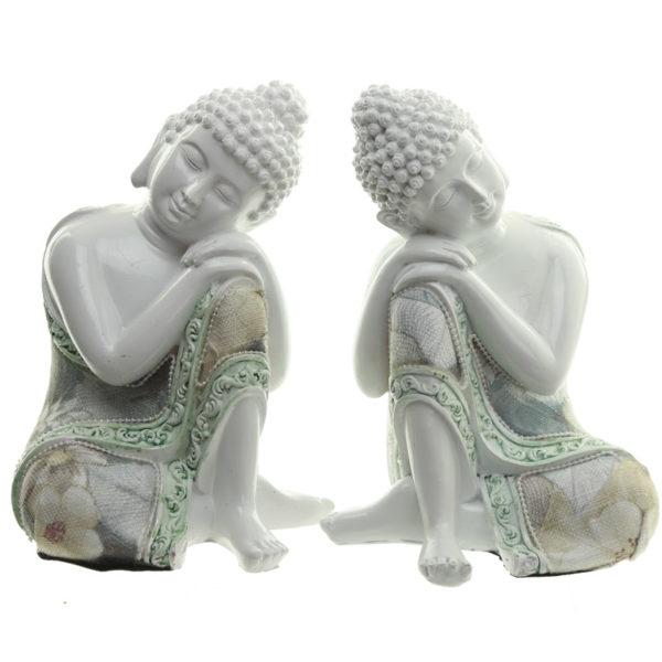 Decorative Floral Thai Buddha Contemplation Figurine