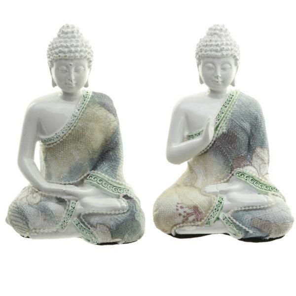 Decorative Floral Thai Buddha Meditation Figurine
