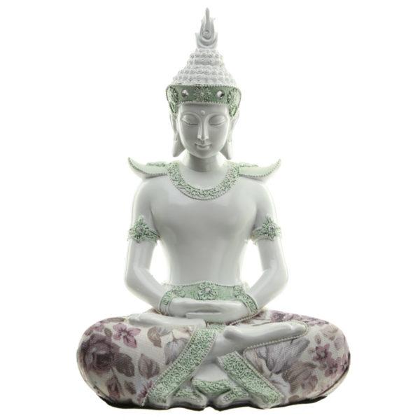 Decorative Floral Thai Buddha Mindful Figurine