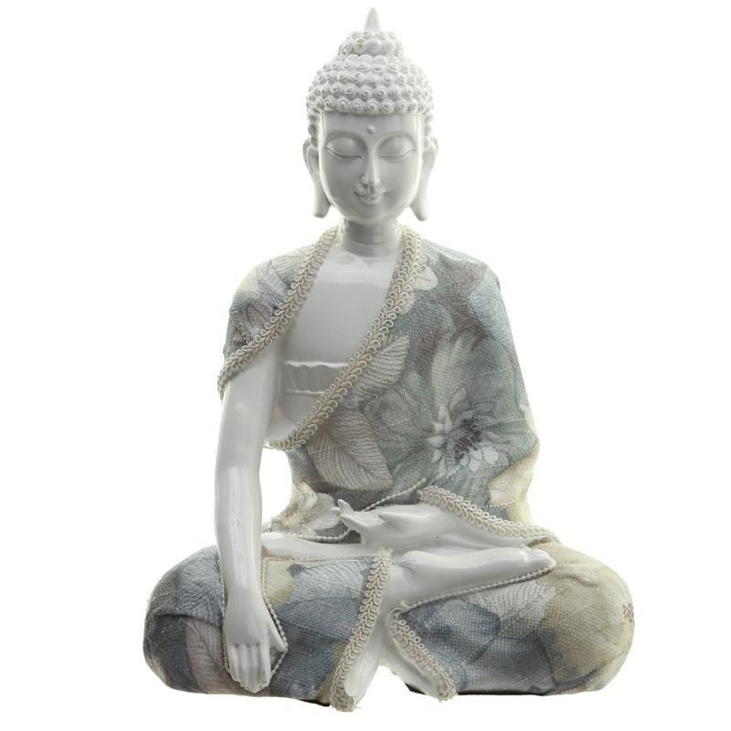 Decorative Floral Thai Buddha Relaxation Figurine