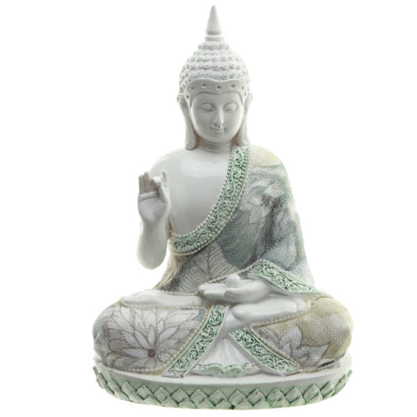 Decorative Floral Thai Buddha Wisdom Figurine