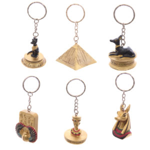 Decorative Gold Egyptian Keyring
