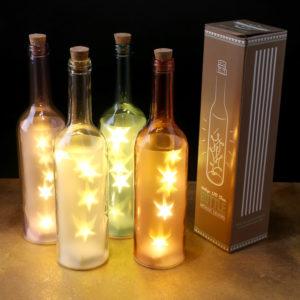 Decorative LED Light Bottle - Stars