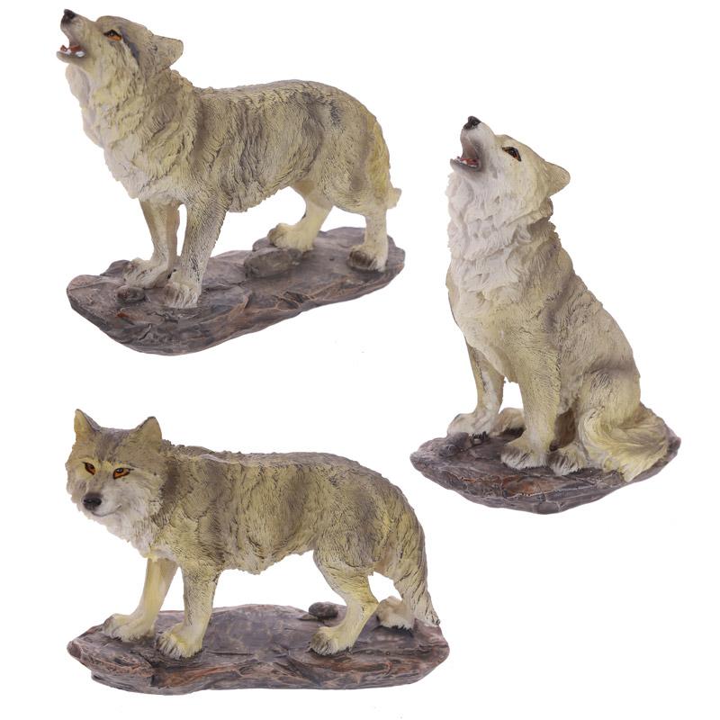 Decorative Medium Wolf Figurine