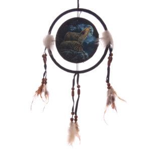 Decorative Mystical Wolf Pair 16cm Dreamcatcher