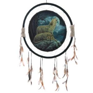 Decorative Mystical Wolf Pair 60cm Dreamcatcher