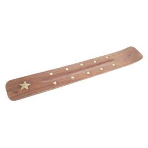 Decorative Sheesham Wood Ashcatcher with Stars
