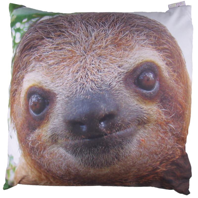 Decorative Sloth Print Cushion