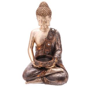 Decorative Thai Buddha Figurine Tea Light Holder